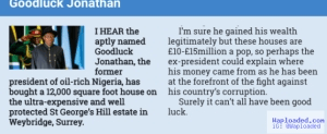 GEJ denies owning £15m house in the UK, demands retraction from UK Sun newspaper
